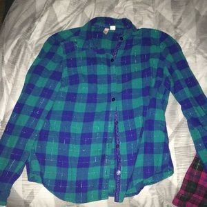 Two flannels in great condition Size Large